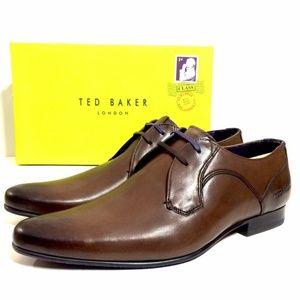 Ted Baker London Men's Brown Plain Toe Derby Shoes